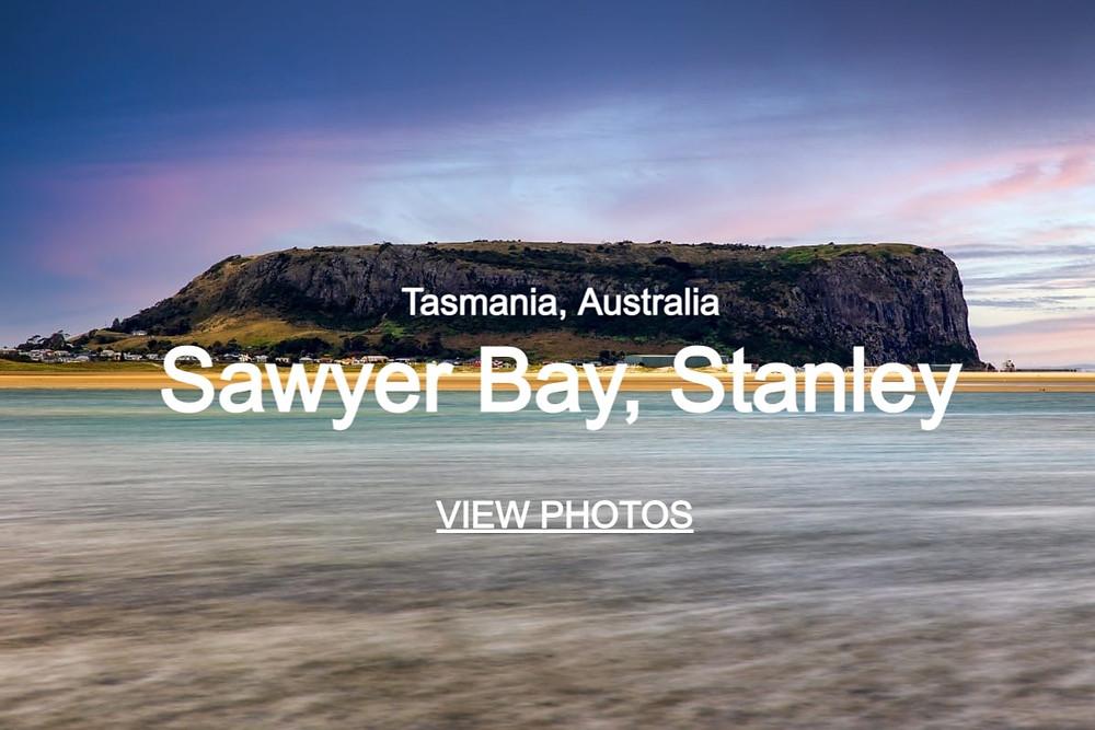 Click through to beautiful photos of Sawyer Bay in Stanley, Tasmania