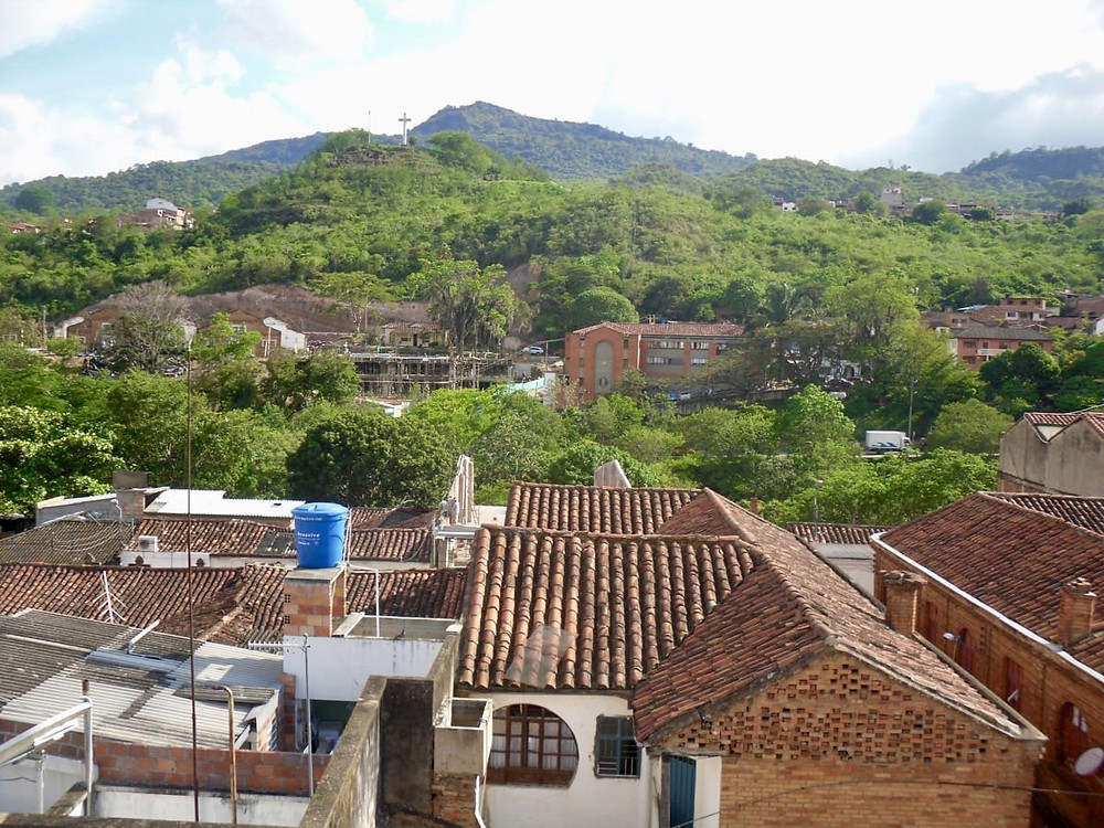 Looking over some rooftops of the beautiful town of San Gill in Colombia