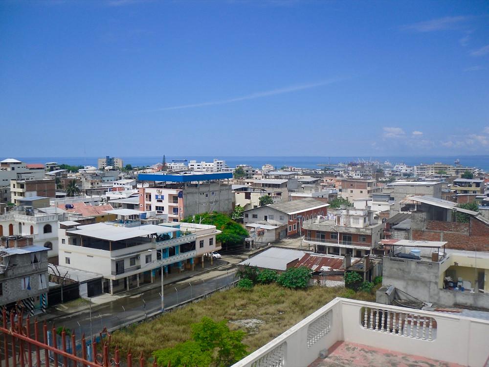 The city of Manta in Ecuador