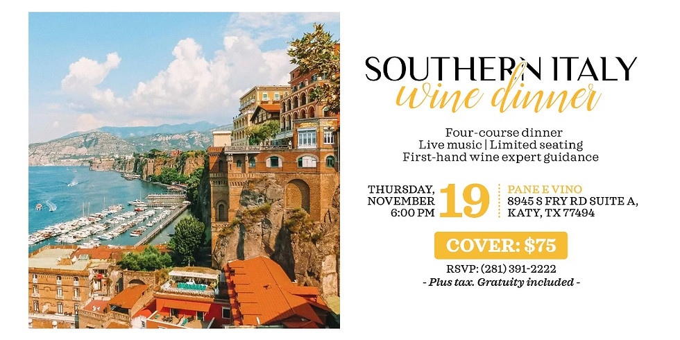 Southern Italy Wine Dinner