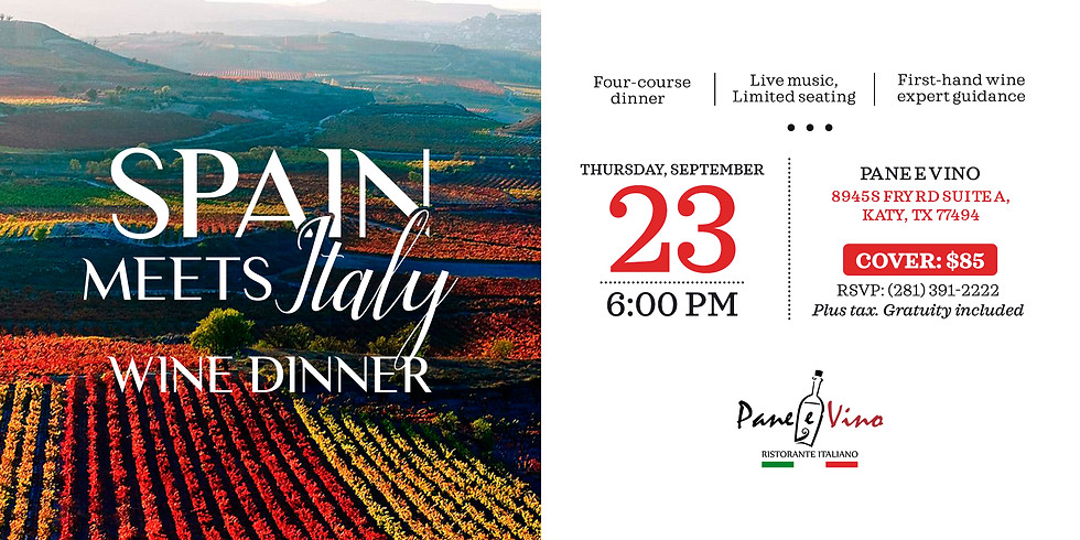 Spain Meets Italy Wine Dinner