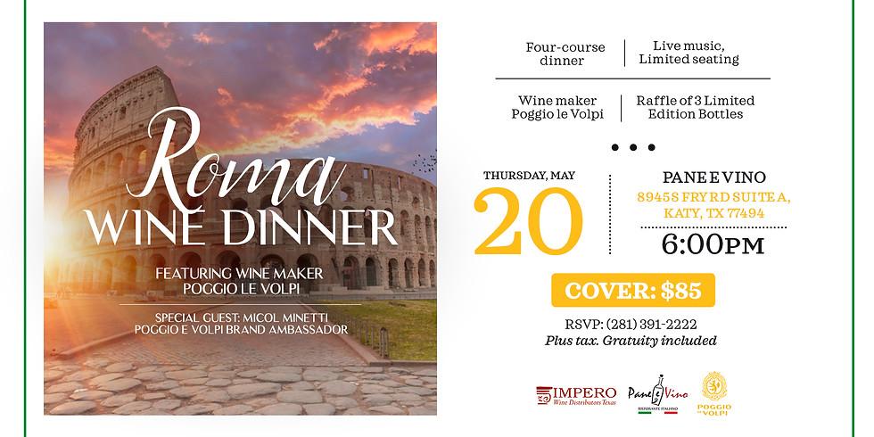Roma Wine Dinner