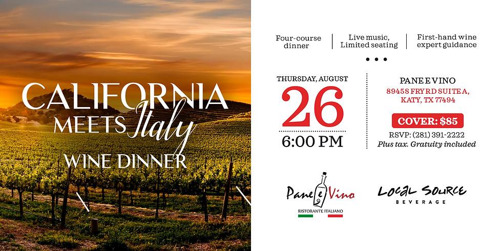 California Meets Italy Wine Dinner