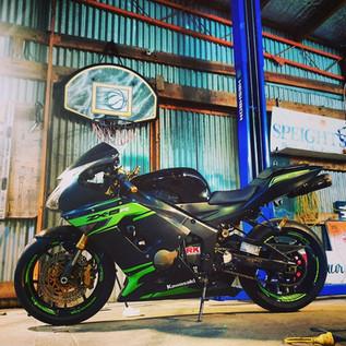 Kawasaki Ninja graphics designed and installed by us