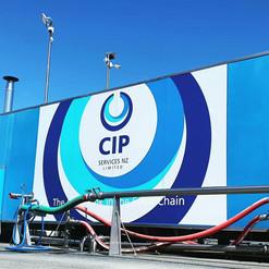 Big 4 drop CIP wall graphic.