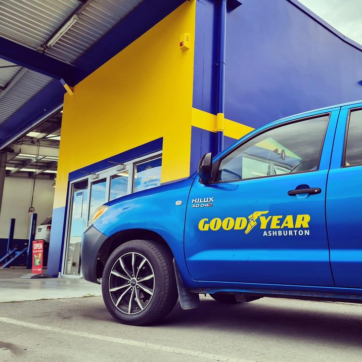 Good Year Vehicle Signage
