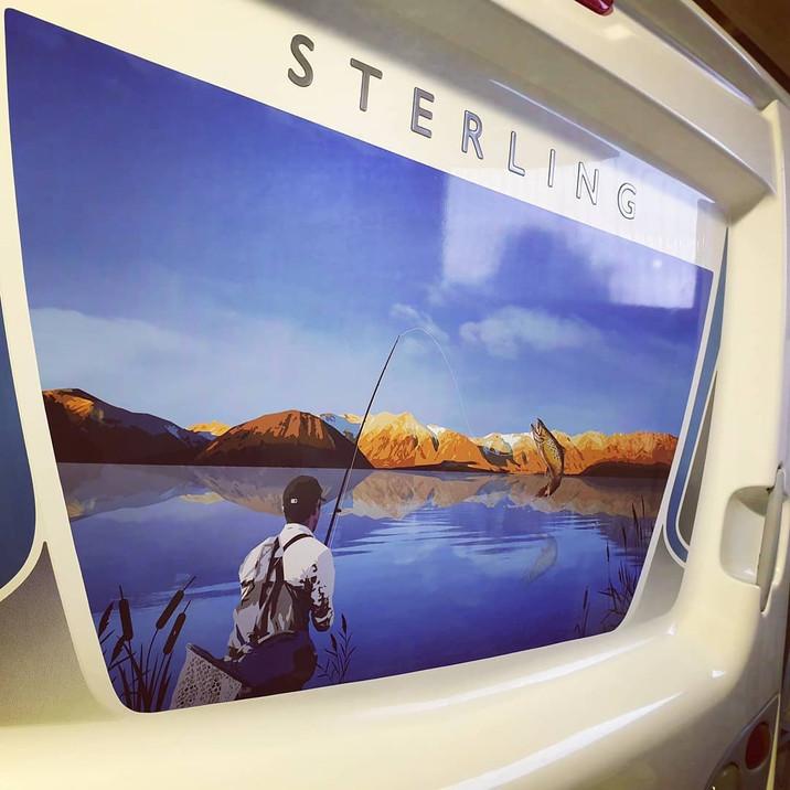 Camper vector print custom designed by us