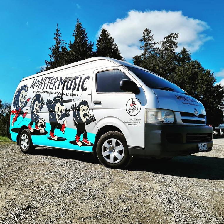 Monster Music Van Wrap
