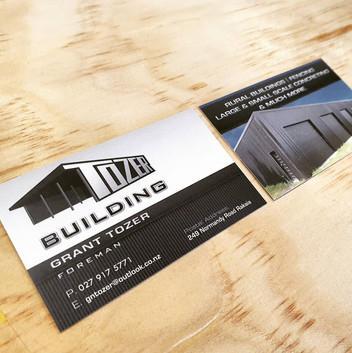 Tozer Building business cards.