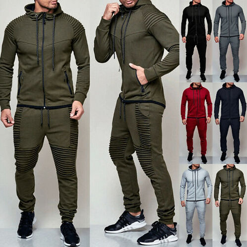 2 Pieces Autumn Running Tracksuit Men