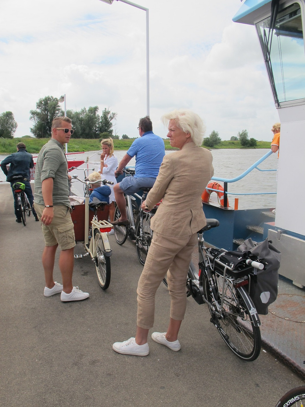 This is what going out for a family ride looks like in the Netherlands