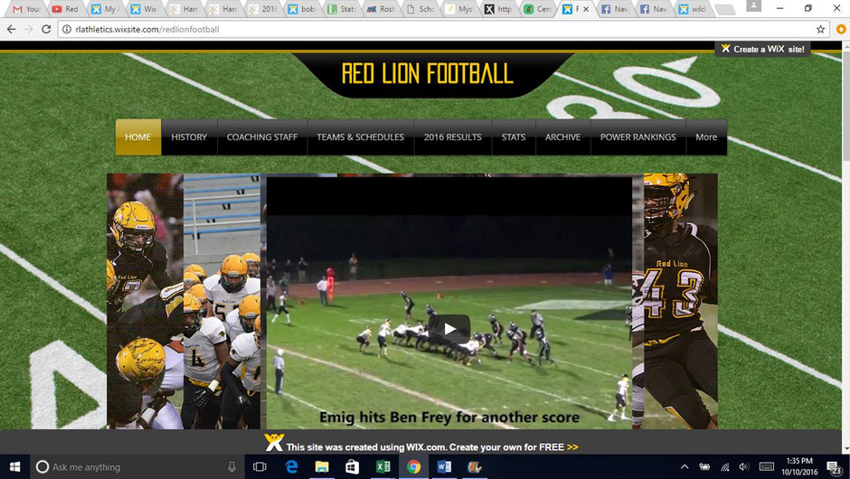 Red Lion Football website