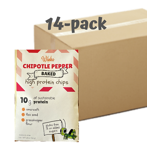 Spicy chipotle grasshopper chips | 14-pack