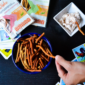 High protein chips made with grasshoppers