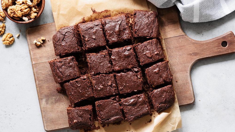 brownies con proteína de grillo