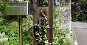 素朴な多機能門柱
