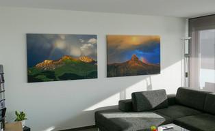 2 Leinenbilder 85x130cm