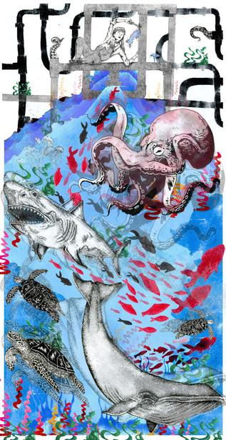 'Secret Thoughts of a Plumber' Illustration