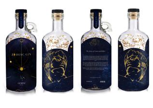 Zodiac Gin: Gemini on bottle mock up