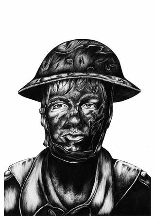 WWII Soldier Illustration