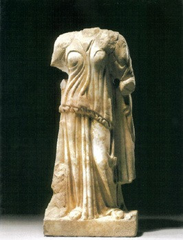 Roman Marble Figure of a Goddess