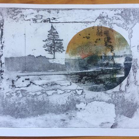 Tree, Earth, Moon I