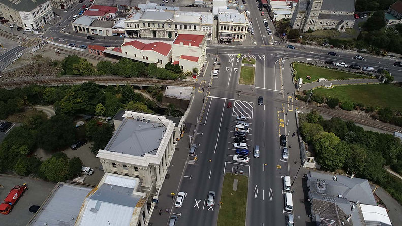 Aerial view of Oamaru streets
