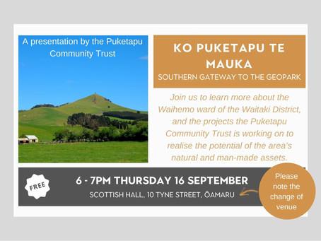 16.09.21 Public talk: KO PUKETAPU TE MAUKA - SOUTHERN GATEWAY TO THE GEOPARK
