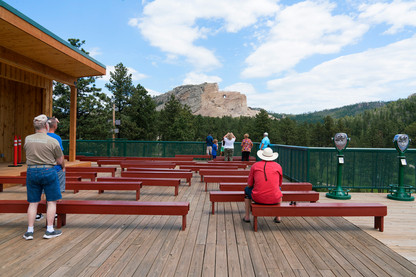 Onlookers at the Unfinished Crazyhorse Memorial, 2020