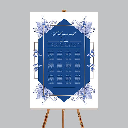 Blue Elements Table Plan