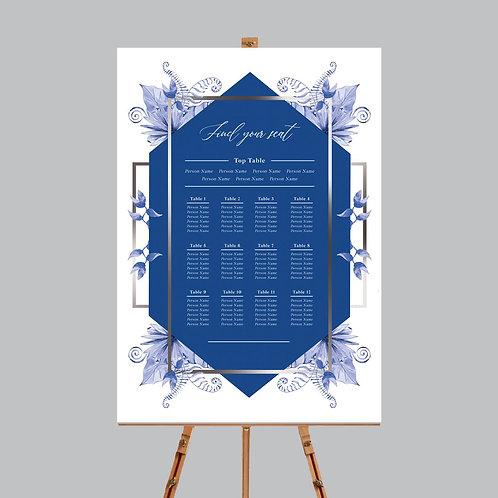 Blue Elements Table Plan