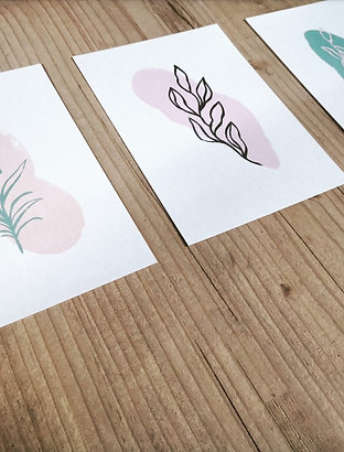 Set of Three Minimal Prints