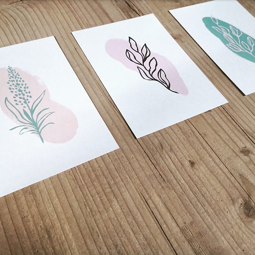 Set of Three Minimal Prints