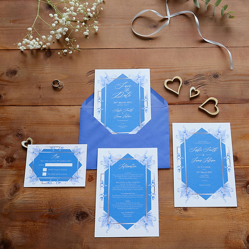 Blue Elements Invitation Set