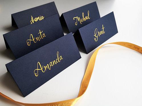 Blue Wedding Name Cards