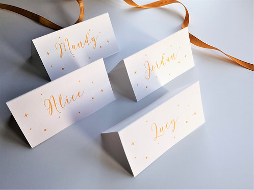 Calligraphy typeface star place names