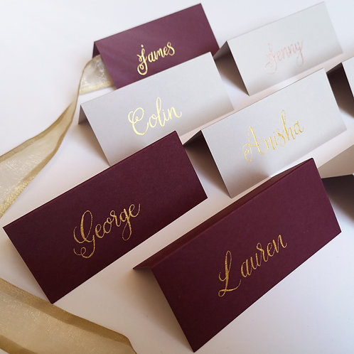 Burgundy Wedding Place Names