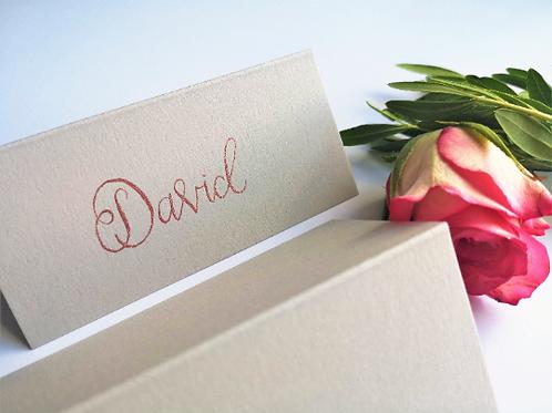 Grey Wedding Place Name Cards