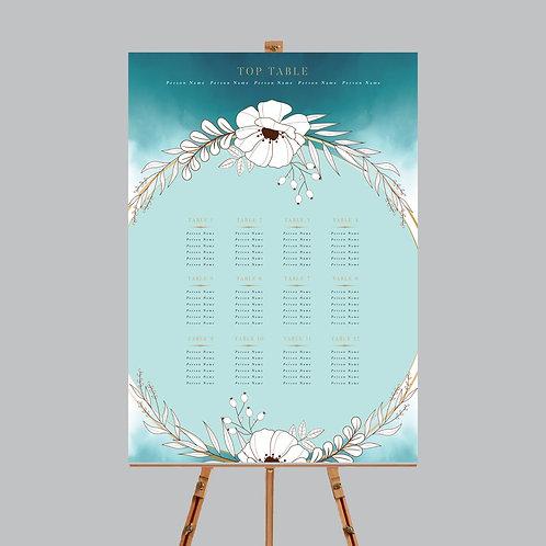 Watercolour Table Plan