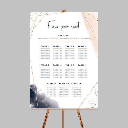 Abstract Table Plan