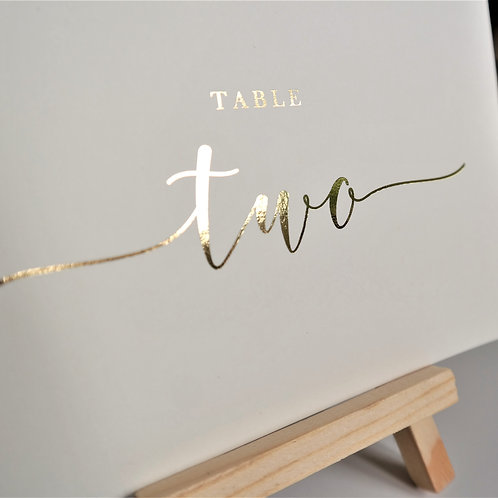 A6/A5 Ivory Table Number Cards