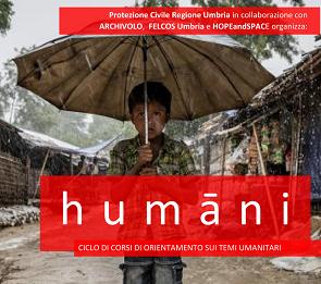 E' in corso il ciclo di corsi HUMANI in collaborazione con il Centro di Protezione Civile di Foligno
