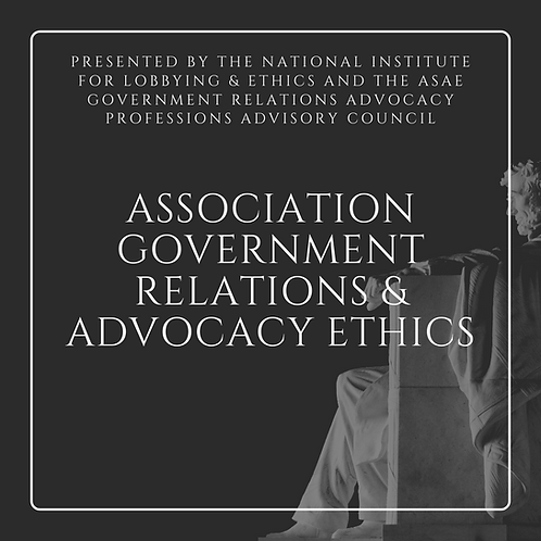Association Government Relations & Ethics