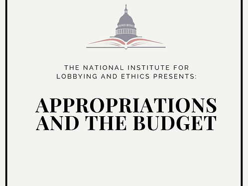 Appropriations & the Budget