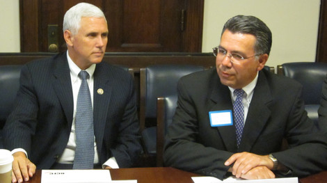 John Palatiello with Vice President Mike Pence