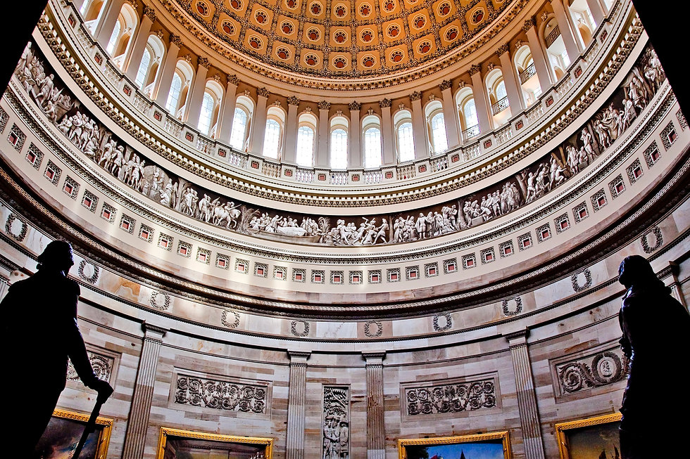Canva - US Capitol Dome Rotunda Statues
