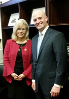 """John """"JB"""" Byrd with House Republican Conference Chair Rep. Liz Cheney (R-WY)"""