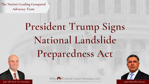 "President Trump Signs ""National Landslide Preparedness Act"" into Law"