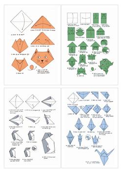 Origami prenten