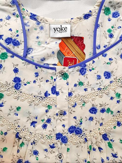 Yoke - Flower Pattern Nighty